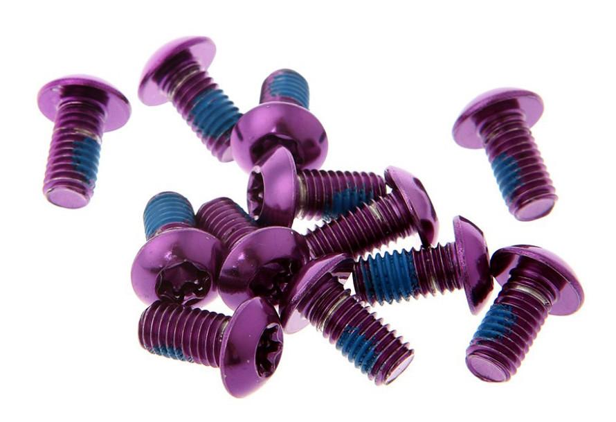 Болты Brand-X для велосипедных роторов, фиолетовые, 12 шт