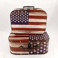 Сундук - чемодан декоративный S/2 флаг США