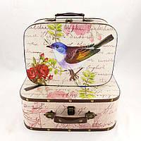 Сундук - чемодан декоративный S/2 птица