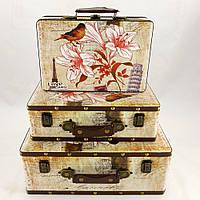 Декоративный сундук - чемодан S/3 История любви