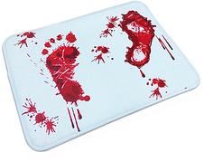 Антиковзаючий килимок у ванну кімнату, килимок для ванної Криваві сліди 40*60см