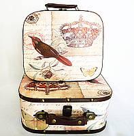 Декоративный сундук - чемодан набор из 2-х Корона