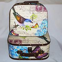 Сундук чемодан набор из 2-х Птица, декоративная мебель