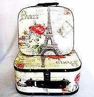 Декоративный сундук - чемодан набор из 2-х Париж