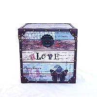 Декоративный сундук квадратный набор из 3-х Любовь