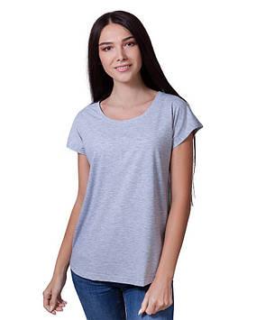 Базовая серая футболка женская (размеры XS-2XL)