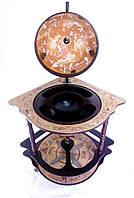 Кремовый Глобус бар угловой 420 мм с полкой и красивыми зодиакальными картами-Зодиак