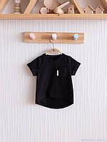 """Футболка для мальчика """"Simply"""", черная с карманом. Размеры: от 80 до 110, фото 1"""