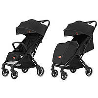 Детская прогулочная коляска черная CARRELLO Turbo CRL-5503 Deep Black для деток 6 до 36 месяцев