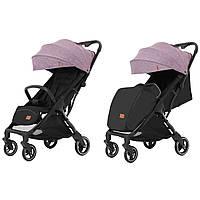 Детская прогулочная коляска розовая CARRELLO Turbo CRL-5503 Grape Pink для деток 6 до 36 месяцев