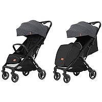 Детская прогулочная коляска темно-серая CARRELLO Turbo CRL-5503 Moon Grey для деток 6 до 36 месяцев
