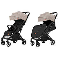 Детская прогулочная коляска бежевая CARRELLO Turbo CRL-5503 Warm Beige для деток 6 до 36 месяцев