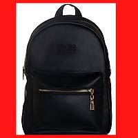 Женский рюкзак черный Черный женский рюкзак Рюкзак черный для девушки Женский черный рюкзак