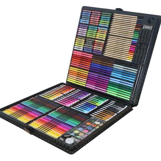 288 предметов!!! Самый большой художественный детский набор для рисования и творчества Colorful Italy