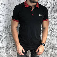 Givenchy Polo Contrasted Band And Stars Black/Red