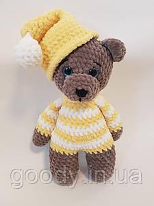 М'яка іграшка ведмедик із плюшевої пряжі 30 cm