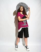 Летний женский костюм-двойка - Размеры:50,52,54,56,58,60,62
