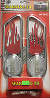 Накладки декоративные ХВ-699 chrome/red/yellow подсвет пламя  (пара)