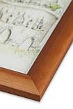 Рамка 35х35 из дерева - Сосна коричневая 2,2 см - со стеклом, фото 2
