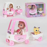 Лялька з машиною 57030 з вихованцем