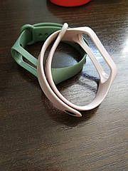 Ремінець на фітнес-браслет Xiaomi Mi Band 4 пудра, хакі
