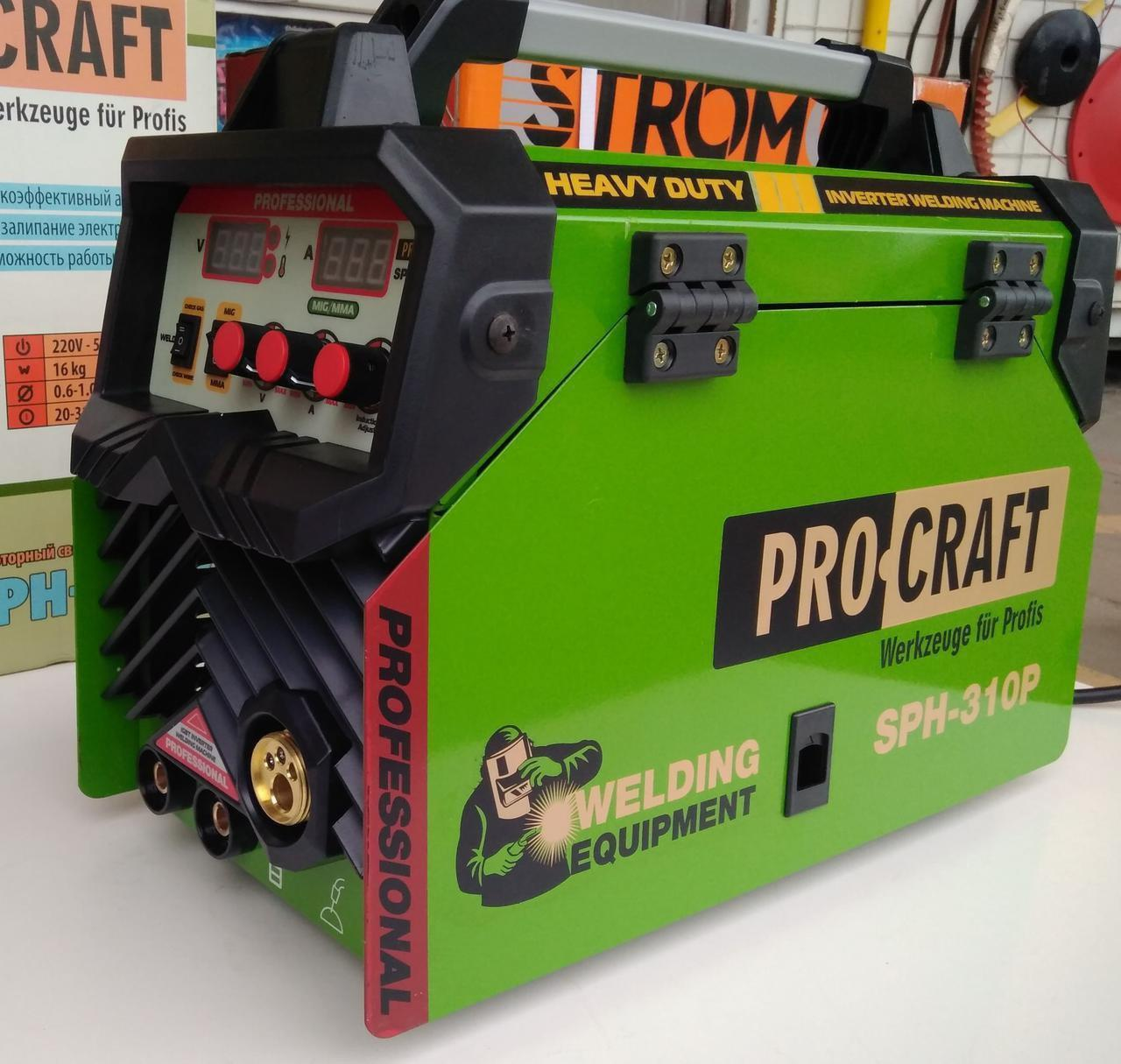 Сварочный полуавтомат инверторный MIG+MMA ProCraft SPH-310P (проволка + электород)