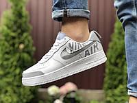 Кроссовки Nike Air Force белые с серым