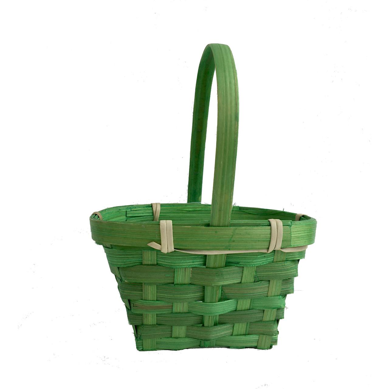 Корзина для цветов 13 х 10 см зеленая