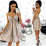 Платье-сарафан из софта 24-1351, фото 6