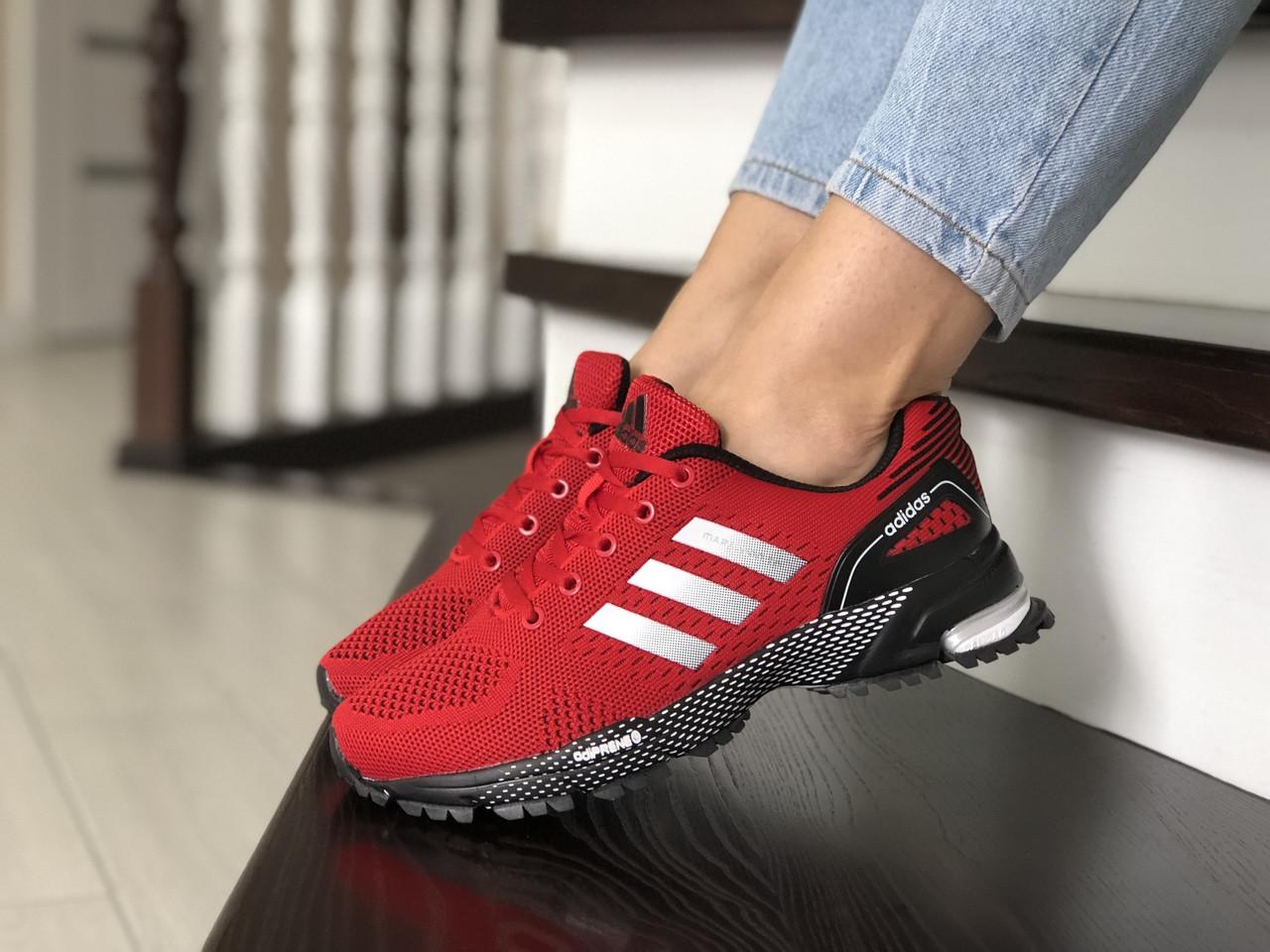 Подростковые (женские) летние кроссовки Adidas Marathon,красные