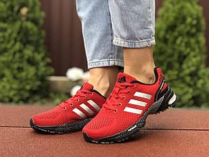 Подростковые (женские) летние кроссовки Adidas Marathon,красные, фото 2