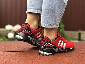 Подростковые (женские) летние кроссовки Adidas Marathon,красные, фото 3