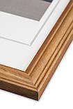 Рамка 35х35 из дерева - Дуб коричневый 2,2 см - со стеклом, фото 2