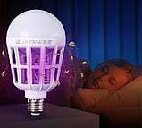 Светодиодная лампа приманка для насекомых от комаров и мошек 15 Вт (уничтожитель насекомых) Zapp Light, фото 2