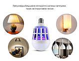 Светодиодная лампа приманка для насекомых от комаров и мошек 15 Вт (уничтожитель насекомых) Zapp Light, фото 4