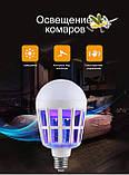 Светодиодная лампа приманка для насекомых от комаров и мошек 15 Вт (уничтожитель насекомых) Zapp Light, фото 6