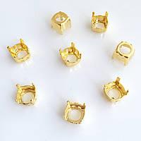 Цапы (оправа) Круглые 8 мм. Золото