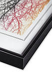 Рамка 35х35 из алюминия - Чёрный глянец 6 мм - со стеклом, фото 2