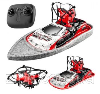 Радиоуправляемая игрушка   Летающий дрон   Радиоуправляемый дрон   Катер-дрон-машинка Bolt CH405 3в1
