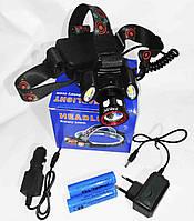 Фонарик аккумуляторный налобный BL 865 T6+COB, фото 1