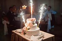 Холодный фонтан 30 см на торт