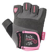 Перчатки для фитнеса и тяжелой атлетики Power System Cute Power PS-2560 XS Черно-розовый, КОД: 1293263