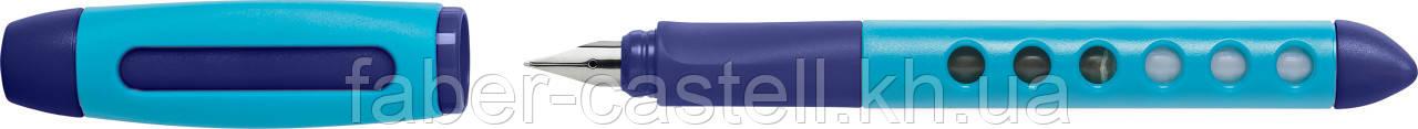 Ручка перьевая школьная Faber-Castell Scribolino School для правшей, корпус голубой, 149847