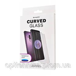 Защитное стекло Slim Clear Full Glue + Lamp Samsung Galaxy S10