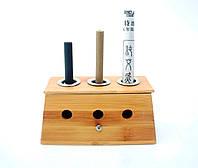 Держатель для полынных сигар деревянный, тройной.