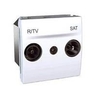 Розетка TV/R - SAT одиночная, белый. Unica MGU3.454.18