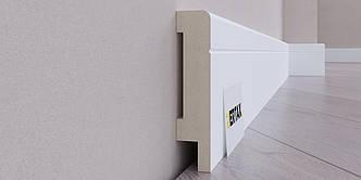 Плинтус МДФ влагостойкий крашенный 80x16 2 м Vertax GT LN-05 R6 Белый (100051)