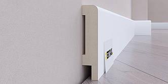Плинтус МДФ влагостойкий крашенный 80x16 2 м Vertax GT 07 R8 Белый (10007)