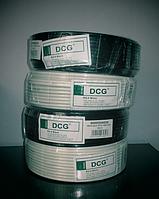 Кабель телевизионный 100 м DCG RG-6 white, фото 1