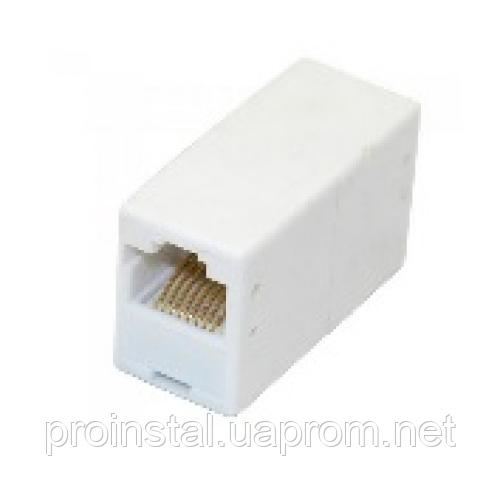 Соединитель RJ45 8P8C мама / мама RJ45 для соединения кабеля, белый, Q100